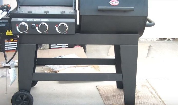 The Right Hand Grill Is A Charcoal Bin That Provides Perfect Sear For Steaks As You Cook Comfortably Over Gas Top