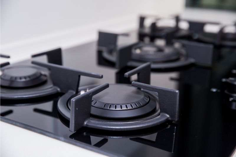 A close up of proffesional range burners