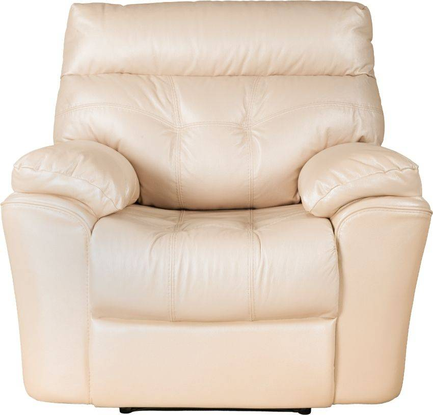 A large leather recliner model